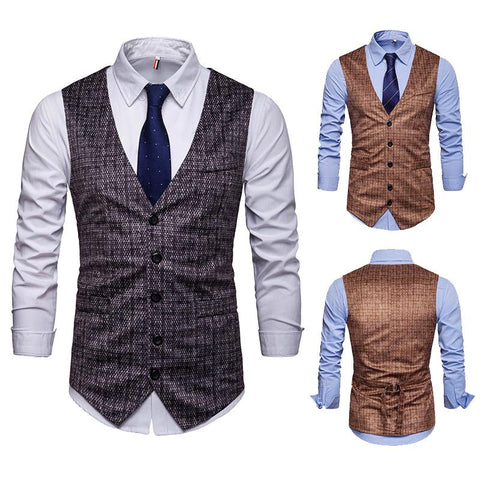 Casual Single Breasted Suit Vest Waistcoat