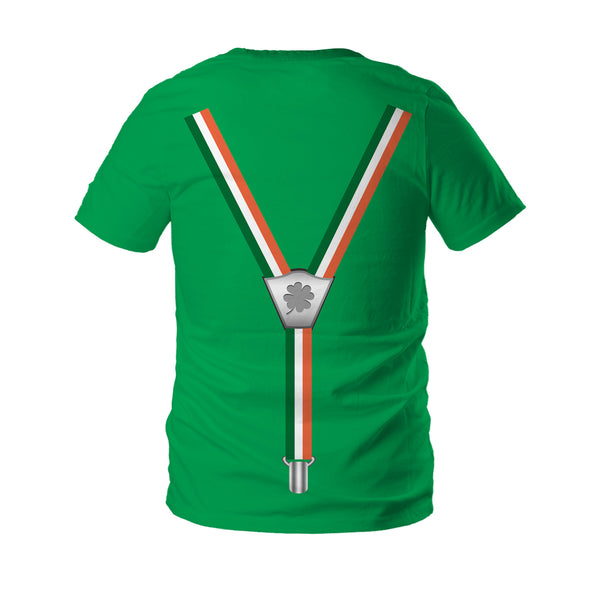 3D St. Patrick's Day Funny Shamrock Print Green  T-shirt  Tee Tops