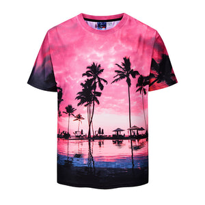 Sunset Cloud Coconut 3D Print T-Shirt