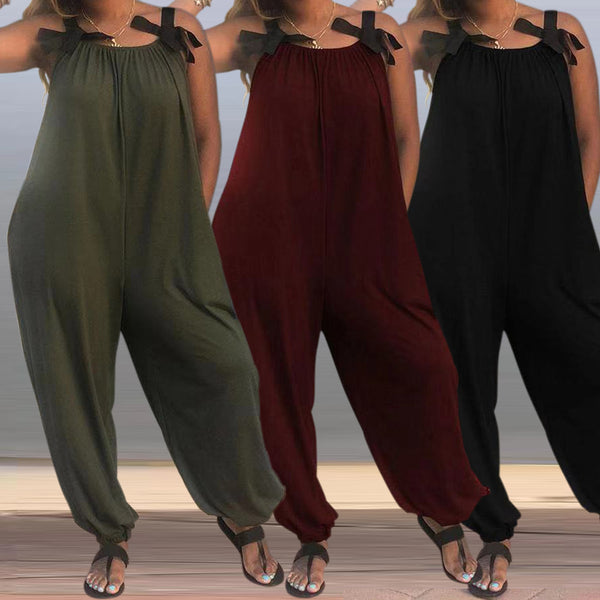 Baggy Harem Solid Color Loose Jumpsuits
