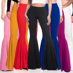 Women's Mermaid High Waist Casual Fashion Pleated Flare Pants (Clearance Price)