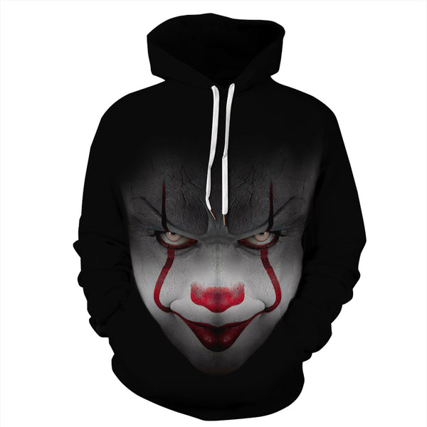 Halloween Clown Pattern Hoodie S-5XL Plus Size Halloween Costumes