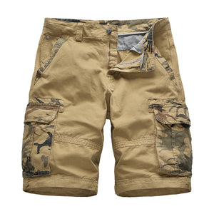 Men's Camouflage Cotton Tooling Straight Shorts Men Camo Shorts