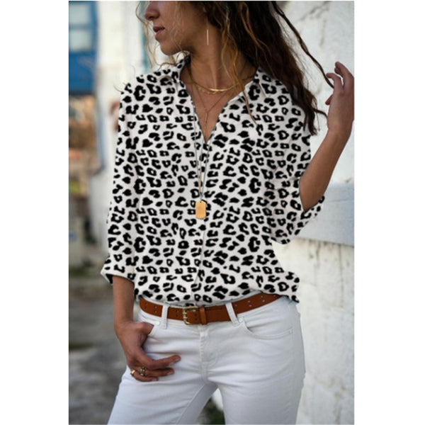 S-5XL Lapel Loose Blouse