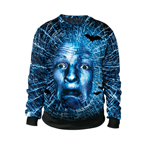 Terrorist Head 3D Digital Print Couple Sweatshirt Halloween Costumes