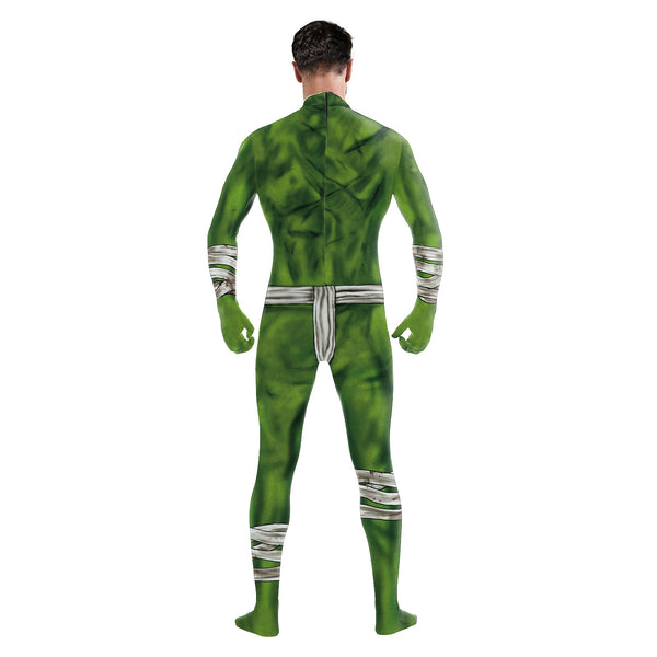 Halloween 3D Print Tight Zipper with Socks Jumpsuit
