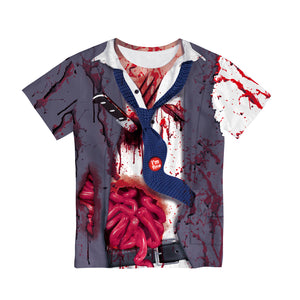 Halloween Horror Zombie 3d Print Women's T-shirt