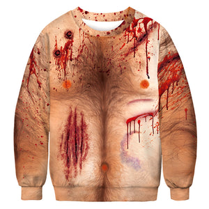 Halloween Digital Print Sweatshirts for Adult