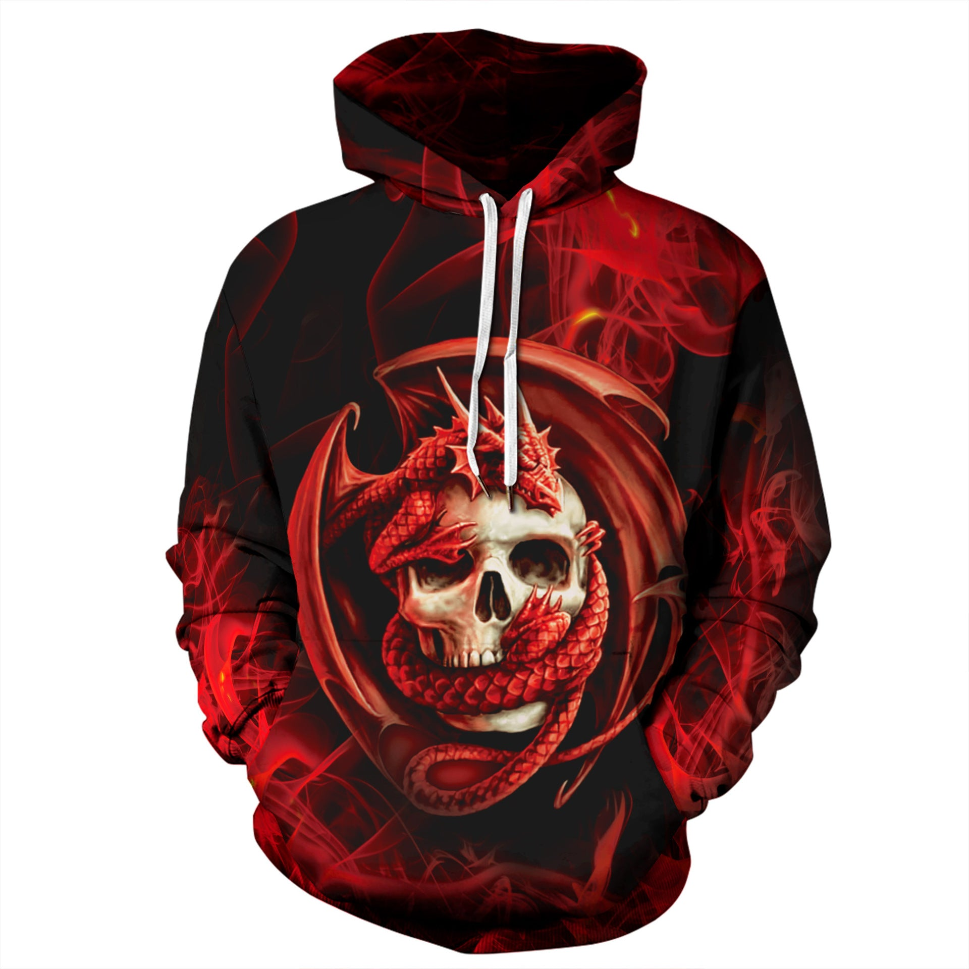 Ghost Fire Skull Hero Hoodie Long Sleeve Sweatshirt