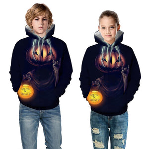 Halloween Cry Night Boys Hoodie Sweater Boys Long Sleeve Hoodies