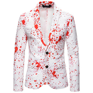 Men Ugly Christmas Blazer Suit Funny Christmas Santa Claus Printed Party Suits Holiday Jackets