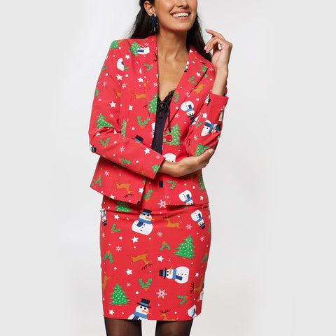 Women's Christmas Costume Suit Fashion Jacket Ugly Christmas