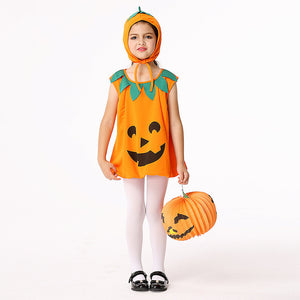 Halloween Children's Clothing Pumpkin Cosplay Performance Clothing Suit Girls Dress