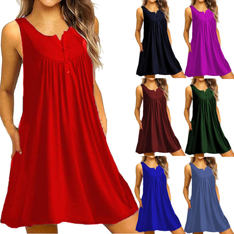 Casual Sleeveless Shift Summer Dress