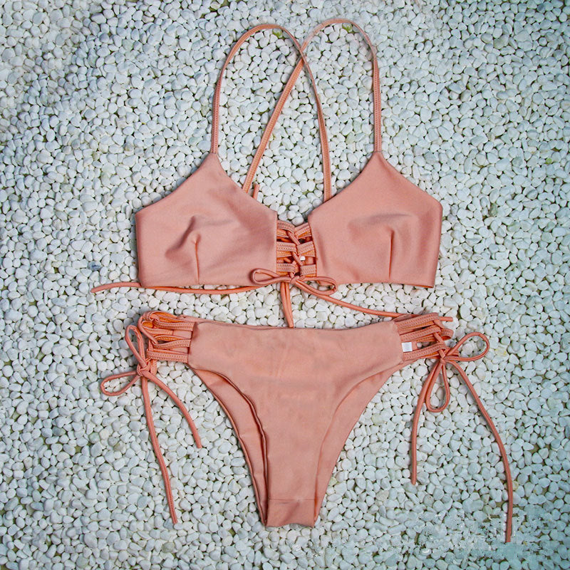 Lace Up Padded Bikini Set