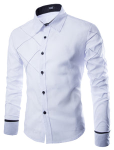 Large Size Casual Long Sleeve Men's Shirt