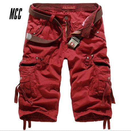 Men's Loose Multi-Pocket Overalls Cargo Shorts