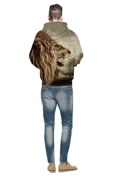 Hip Hop Couple 3D Lion Animal Printed hoodie