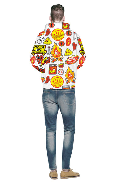 3D Digital Cartoon Printed  Casual Long Sleeve Hoodie