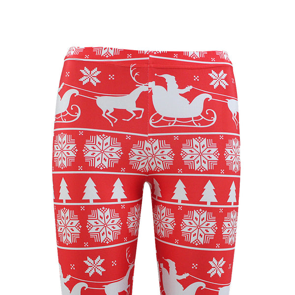 Sexy Christmas Print Leggings Yoga Sport Pants