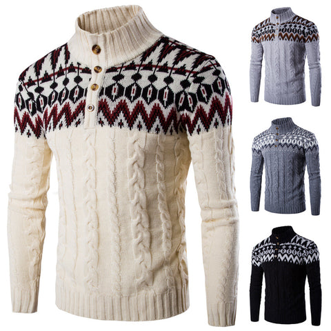 Christmas Snowflake Pattern Knit V-Neck Cardigan