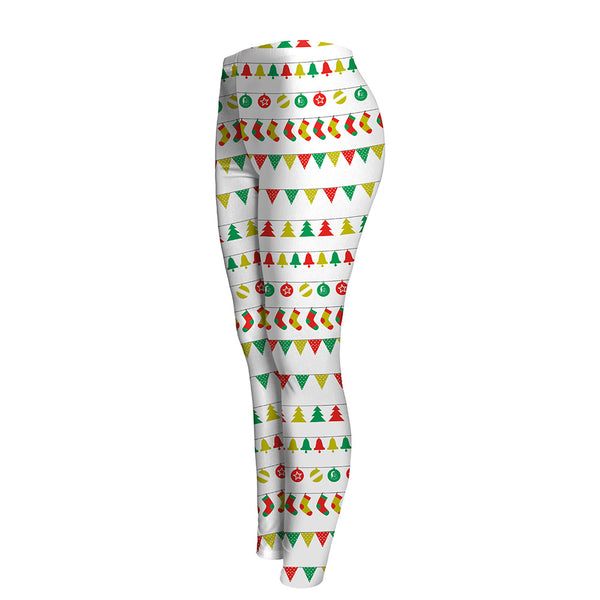 Christmas Print Slim Leggings
