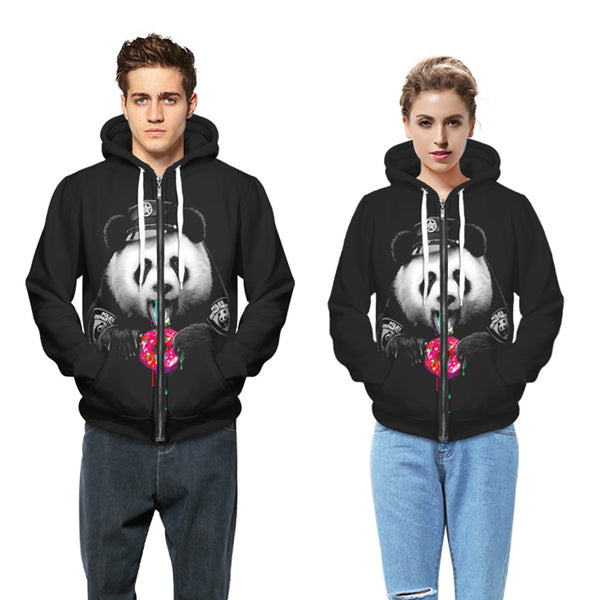 3D Panda Print Sports Casual Sweatshirt