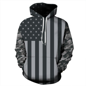 American Flag Print Couple Fashion Hoodie