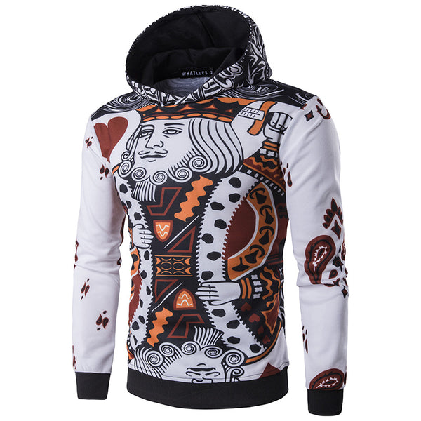 Men's Poker 3D Print Hooded Sweatshirt