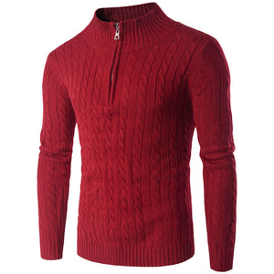 Round Neck Pullover Men's Sweater