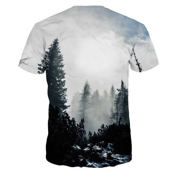 Ink Painting Printed Casual Short Sleeve T-shirt