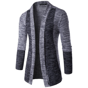 Casual Open Front Color Block Cardigan