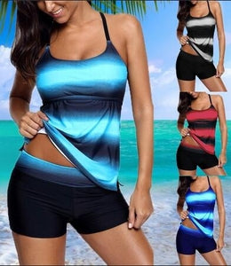 Strappy Hollow-out Back Tankini