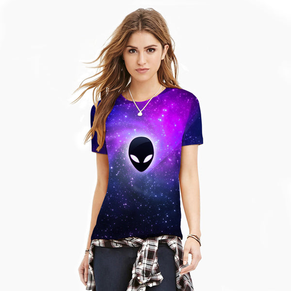 Alien Printed Casual Short Sleeve T-shirt