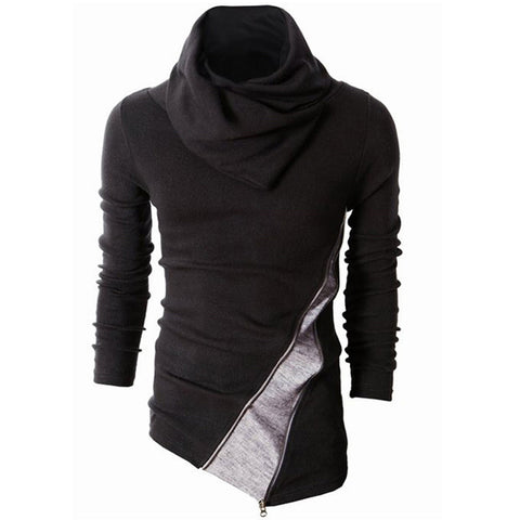 Men's Asymmetric Hem Slim Fit Sweater