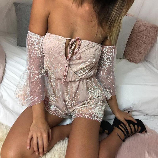 Fantasy V-neck backless Sexy Romper Jumpsuit
