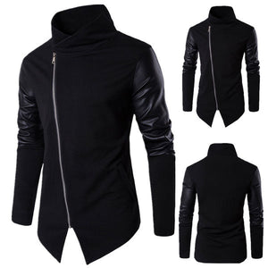 Asymmetric Panel Zip Embellished Jacket