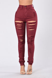 Fashion Shabby Elastic Foot Jeans