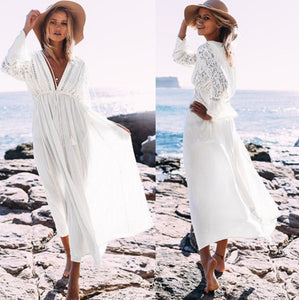 Cotton Lace Beach Dress Swimwear Cover Up