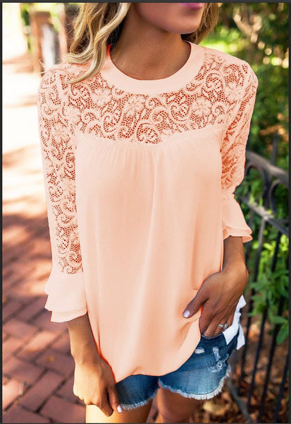 Transparent Cotton Lace T-shirt