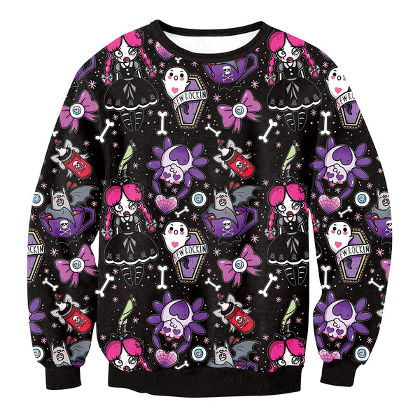 Prom Clown Plays Long Sleeve Sweatshirt  Women's Halloween Costumes