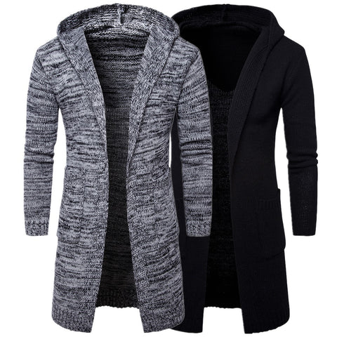 Men's Hooded Longline Space Dye Cardigan