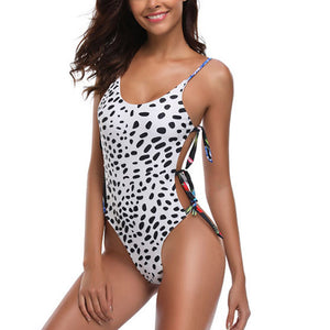 Sexy Backless Lace-up One-piece Swimsuit