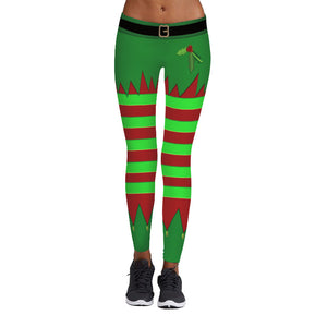 High Waist Ankle Christmas Leggings