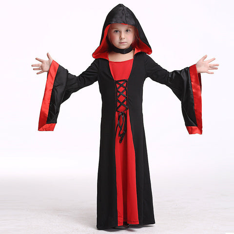 Children's Halloween Costume Cosplay Vampire Festival Performance Costume Children's Long Set