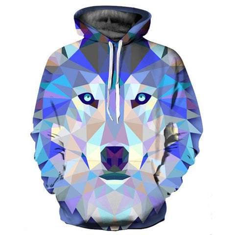 Star Wolf Digital Print hoodie Couple Baseball Uniform