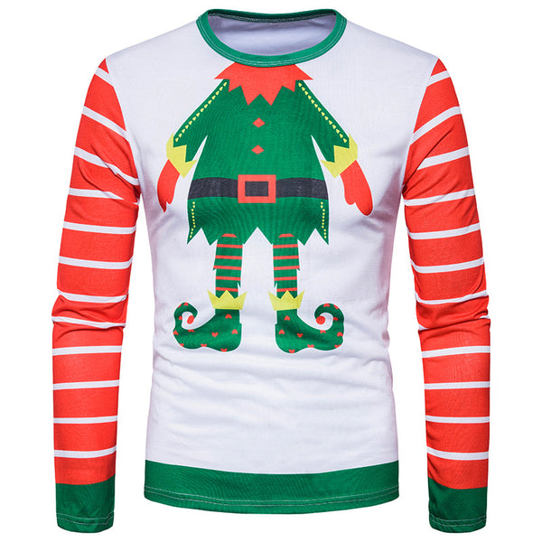 Santa Claus Cartoon Long Sleeve Turtleneck T-Shirt