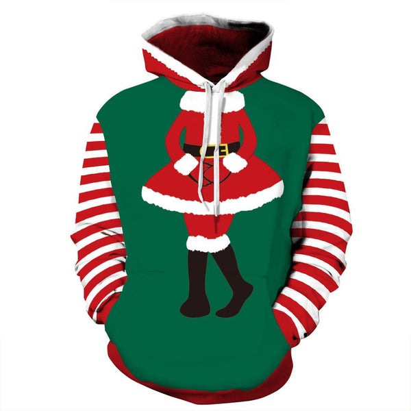 3D Print Ugly Christmas Pocket Sweatshirt Hoodies Pullover