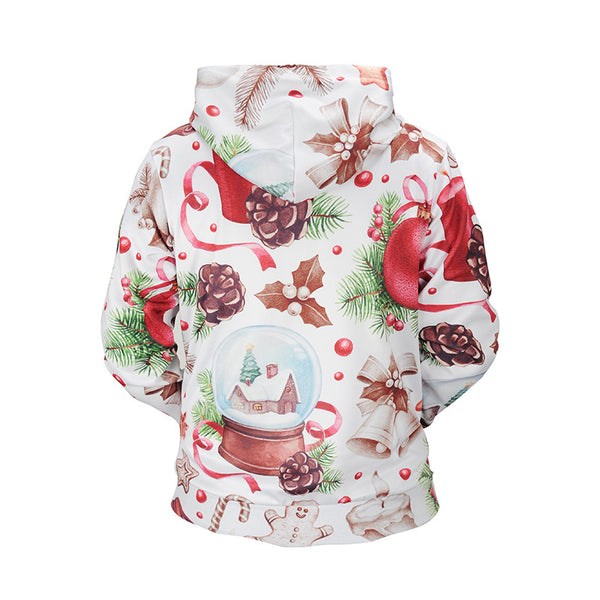 Christmas Cedar Printed Hooded Sweatshirt