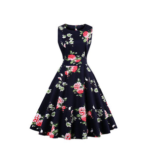 Simple Printed Vintage Dress(10 Styles & S-4XL)